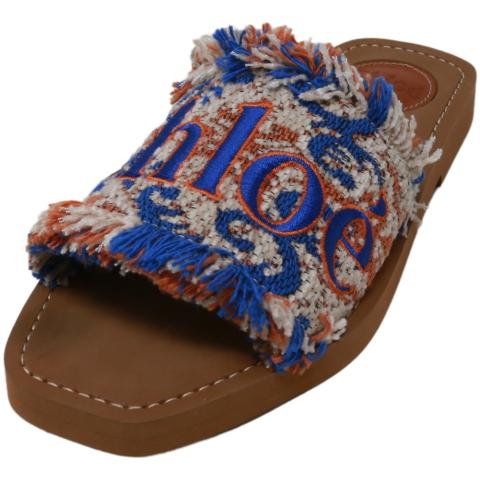 Chloe Women's Western Flat Fabric Sandal