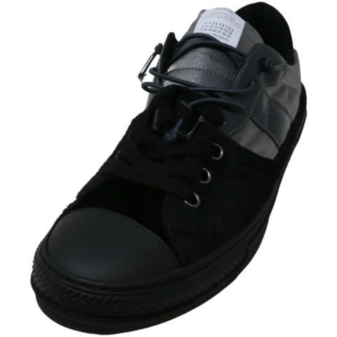 Maison Margiela Men's Spliced Low Top Sneakers Leather Sneaker