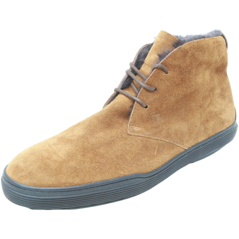 Tods Men's Polacco Montone Gomma Xf High-Top Leather Boot