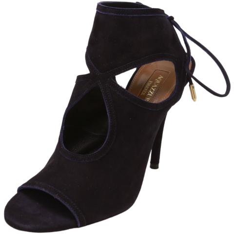 Aquazurra Firenze Women's Sexy Thing 105 Suede Sandal High-Top Leather Heel