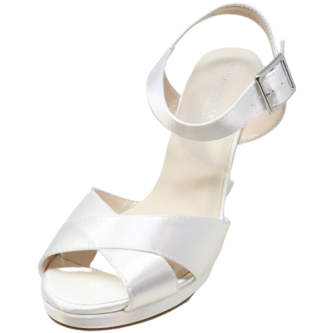Dyeables Women's Stormy Ankle-High Satin Wedged Sandal