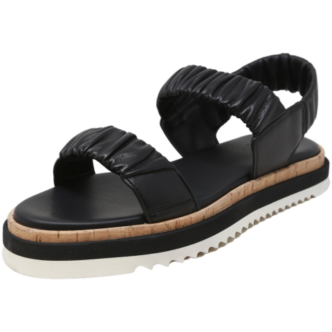 Agl Women's Ruched Sandal Leather
