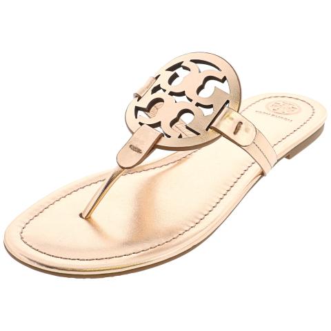 Tory Burch Women's Miller Metallic Veg Leather Sandal