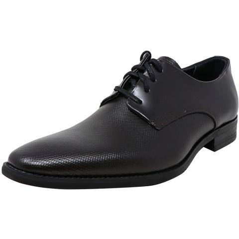 Calvin Klein Men's Ramses Box Texture Ankle-High Leather Oxford