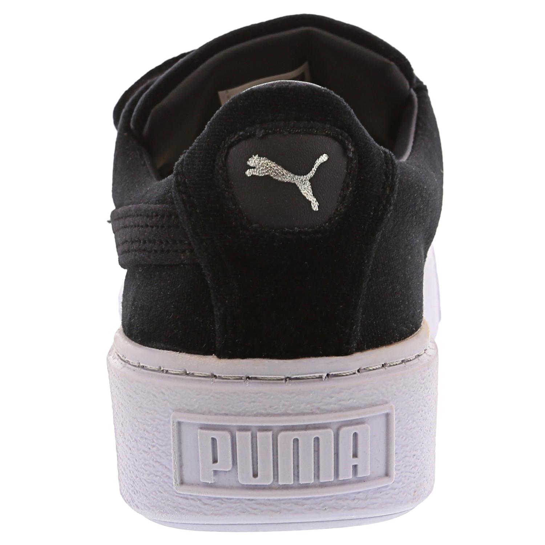 Puma Women's Basket Platform Strap Vr Ankle High Velvet Fashion Sneaker