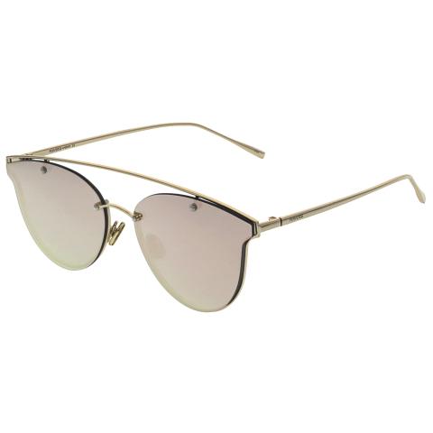 Perverse Women's Mae MAE-02-SWEET Rose-Gold Rimless Sunglasses