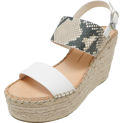 Dolce Vita Women's Spiro Leather Ankle-High Wedged Sandal