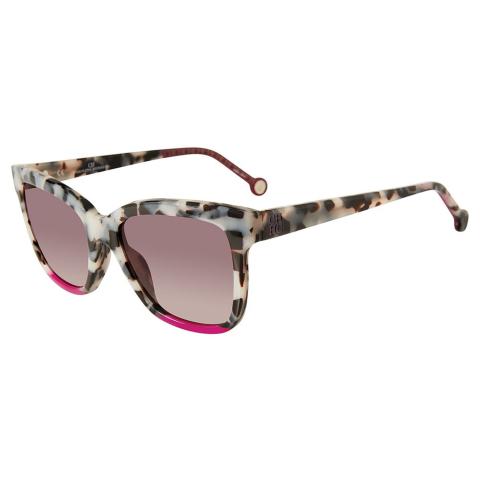 Carolina Herrera SHE7445309BB Gradient Square Sunglasses Black/White/Purple