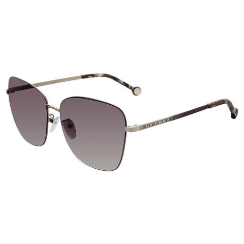 Carolina Herrera SHE103598FEX Gradient Square Sunglasses Purple/Silver