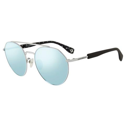 Converse SCO053568L5B Mirrored Round Sunglasses Blue/Silver