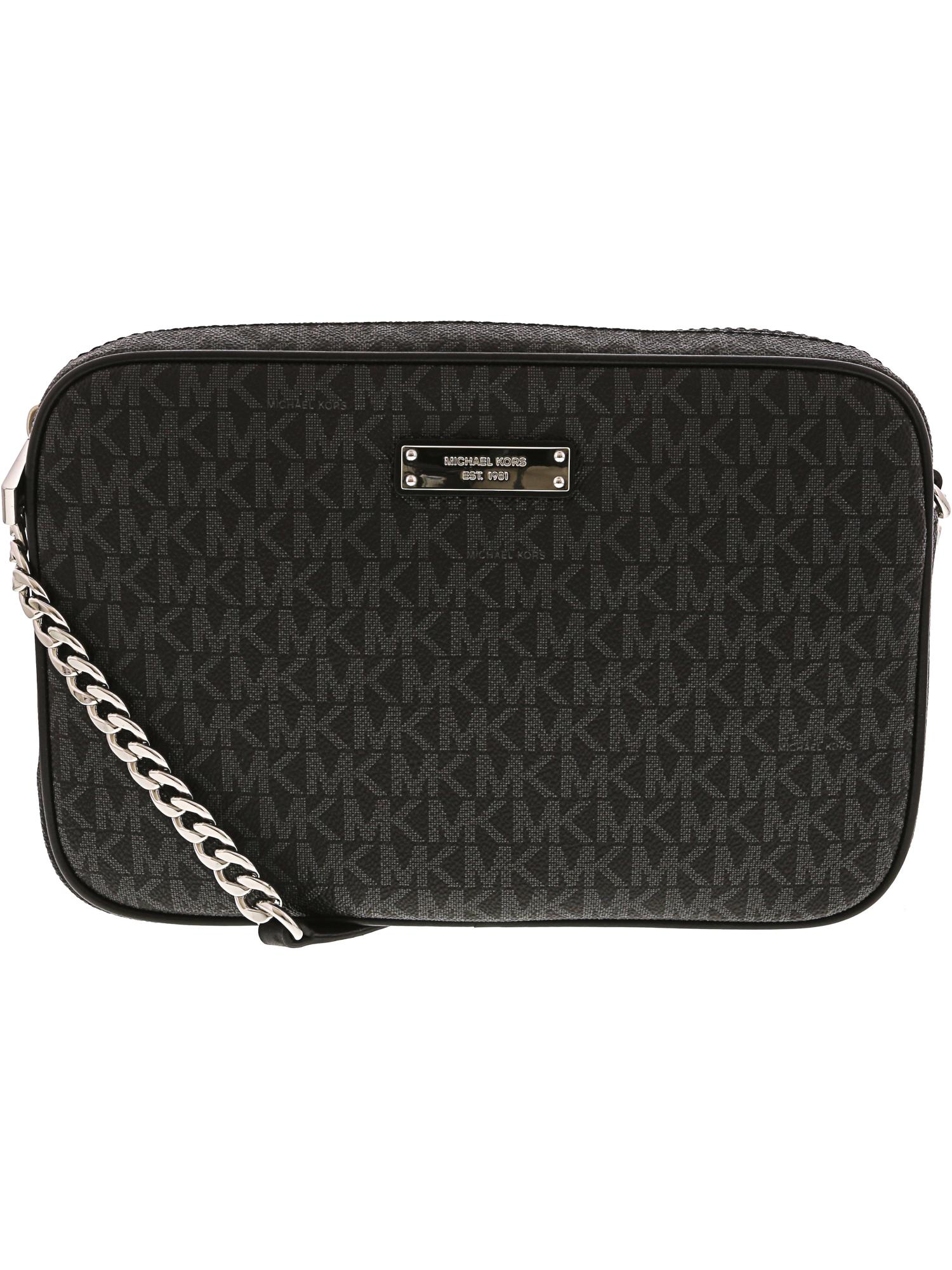 f59cee6286ab Michael Kors Women s Large Jet Set Logo Leather Crossbody Bag