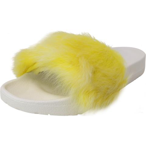 Ugg Women's Royale Tipped Faux Fur Sandal