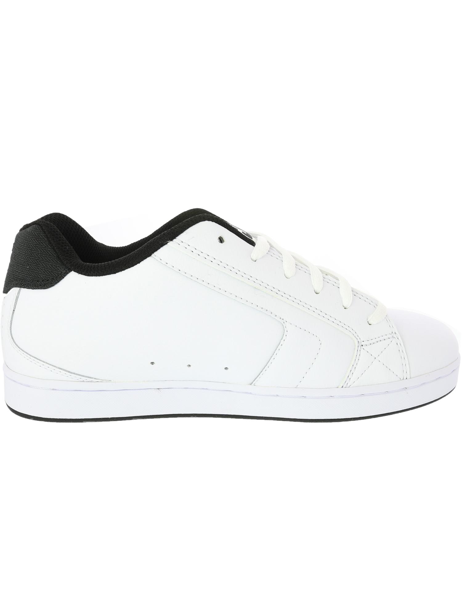 Dc Net Se Low Top Leather Skateboarding Shoe