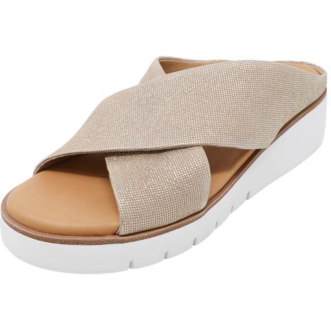 Corso Como Women's Brunna Disco Metallic Ankle-High Lace Sandal