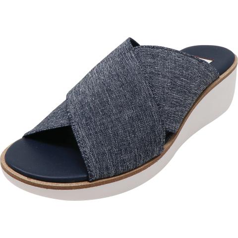 Ellen Degeneres Women's Svetlana Denim Fabric Wedged Sandal