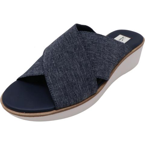 Ellen Degeneres Women's Svetlana Denim Elastic Fabric Wedged Sandal