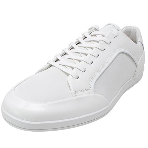Calvin Klein Men's Masen Box Leather Nylon Smooth Ankle-High Sneaker