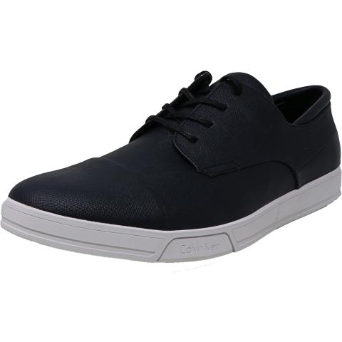 Calvin Klein Men's Baxley Saffiano Smooth Ankle-High Sneaker