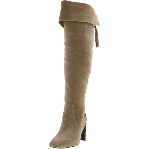 Karl Lagerfeld Women's Razo Suede Mid-Calf Boot