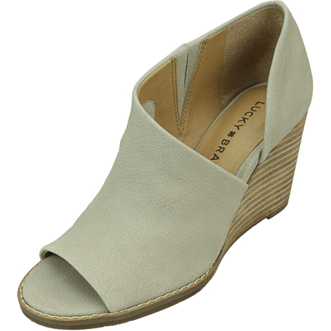 Lucky Brand Women's Jaxy Ankle-High Leather Wedged Sandal