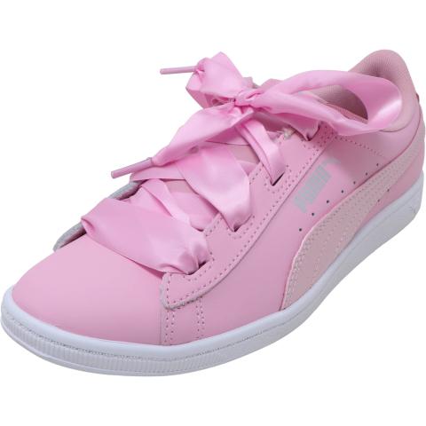Puma Vikky Ribbon L Satin Jr Ankle-High Leather Sneaker