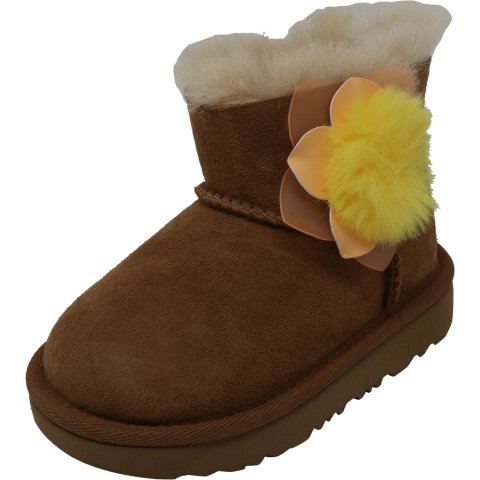 Ugg Girl's Mini Bailey Ii Cactus Flower Ankle-High Suede Boot