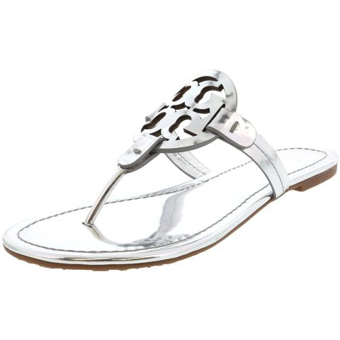 Tory Burch Women's Miller Mirror Metallic Leather Sandal