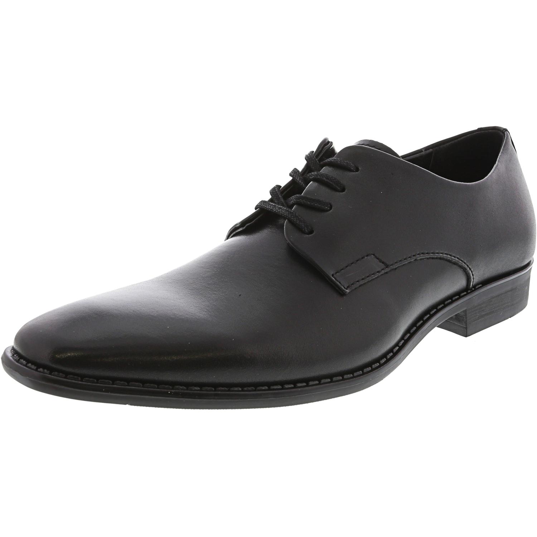Calvin Klein Ramses Leather Oxford Shoes - 8M - Black / Black