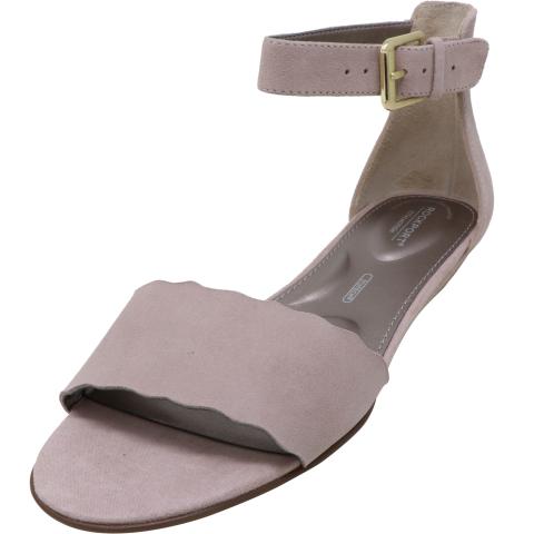 Rockport Women's Zandra Curve Ank High-Top Leather Wedged Sandal