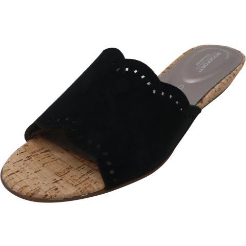Rockport Women's Total Motion Zandra Slide Leather Wedged Sandal