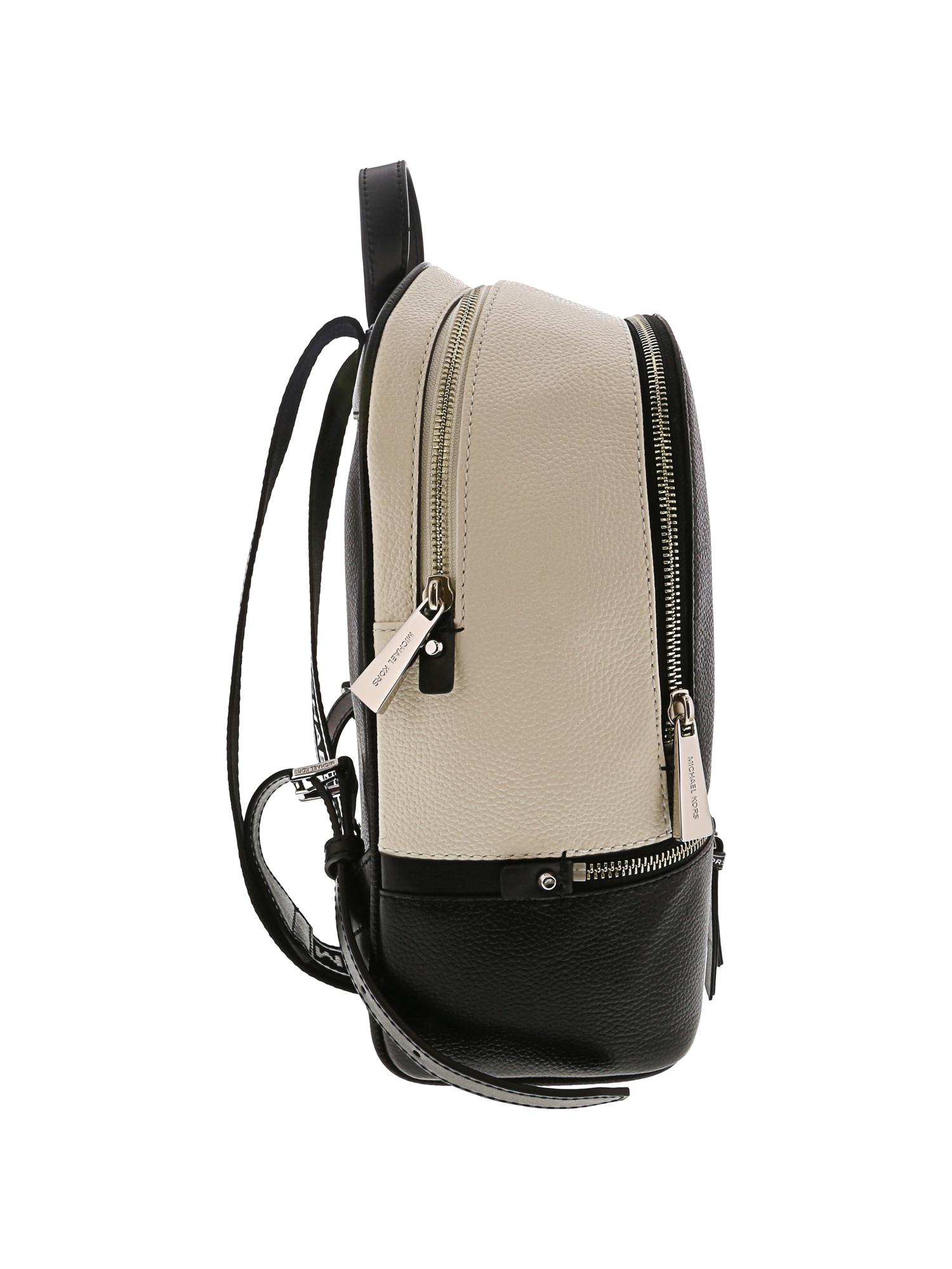 dee977b074c2 ... Picture 3 of 3. Michael Kors Women's Medium Rhea Logo Tape Leather  Backpack