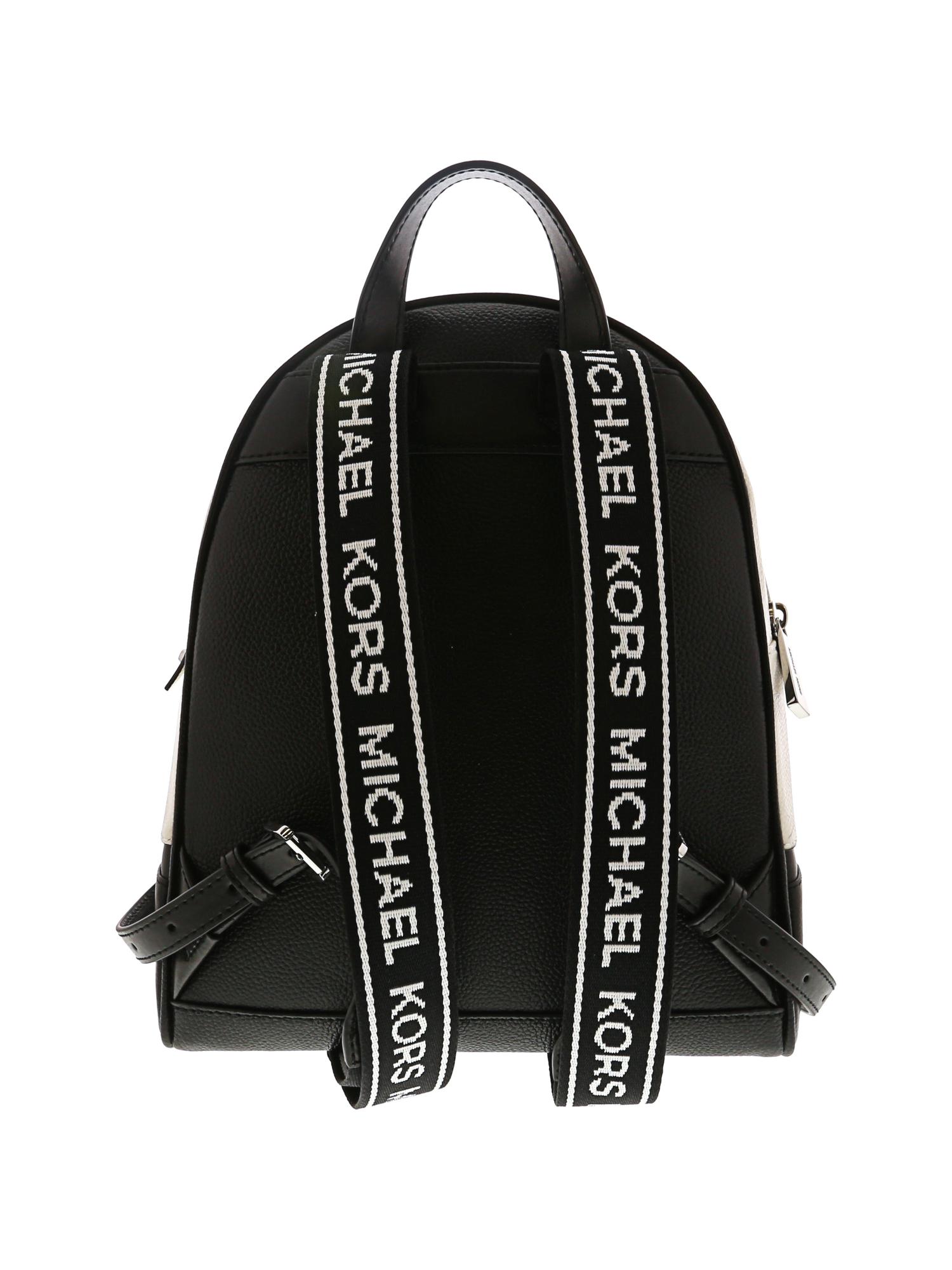 d3c60f0c81 Michael Kors Women's Medium Rhea Logo Tape Leather Backpack | eBay