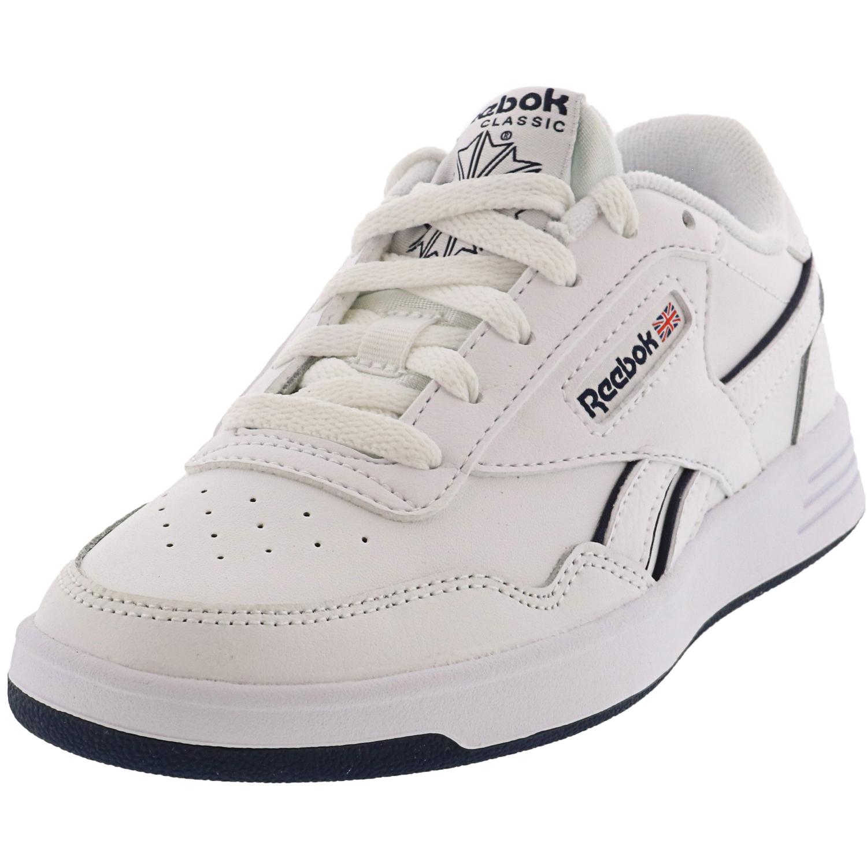 Reebok Men's Club Memt White / Collegiate Navy Ankle-High Tenni - 5M