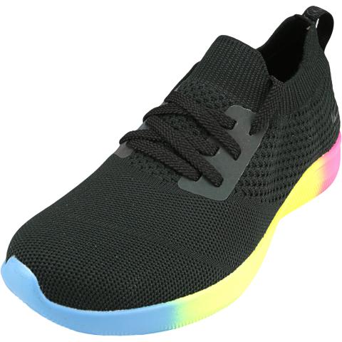 Skechers Women's Bobs Squad 2-Rainbow Rider Ankle-High Mesh Sneaker