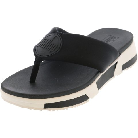 Fitflop Women's Sporty Logo Toe-Thong Sandal