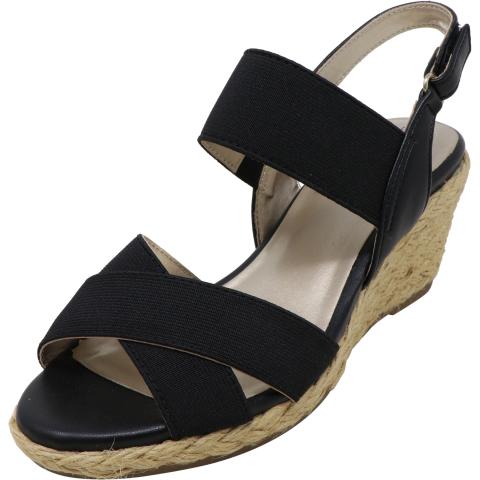 Bandolino Women's Hearsay Multi Fabric Ankle-High Wedged Sandal