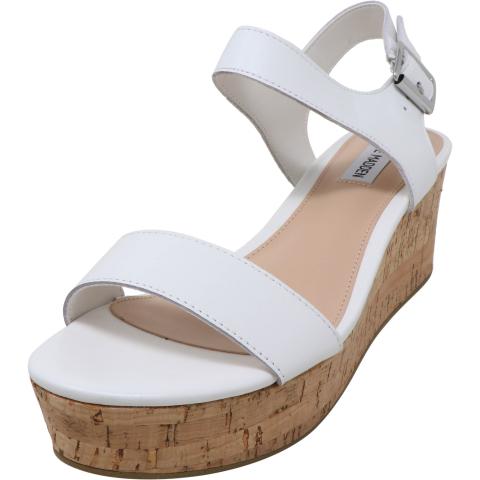 Steve Madden Women's Breath Leather Ankle-High Wedged Sandal