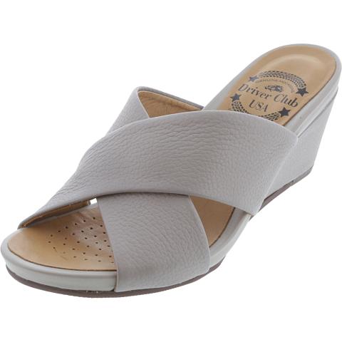 Driver Club Usa Women's Long Beach Grainy Leather Sandal