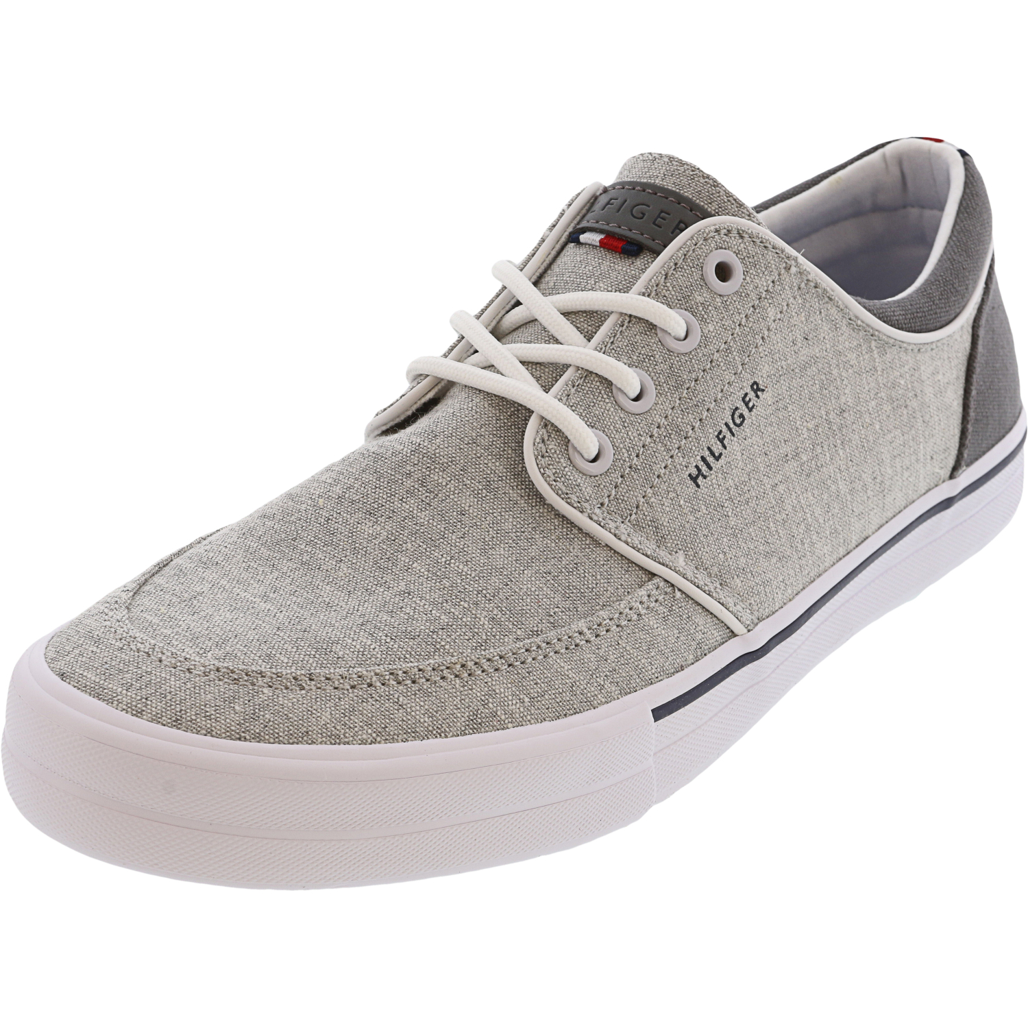 Tommy Hilfiger Men's Redd2 Fabric Light Gray Ankle-High Canvas Slip-On Shoes - 7M