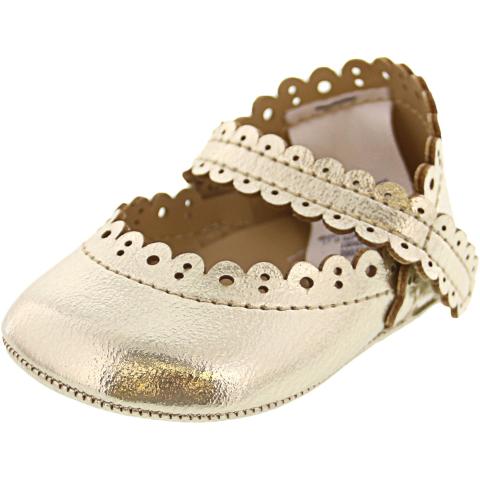 Janie And Jack Metallic Crib Shoe Ankle-High Mary Jane