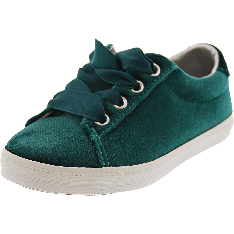 Janie And Jack Velvet Sneaker Ankle-High - 9M - Green