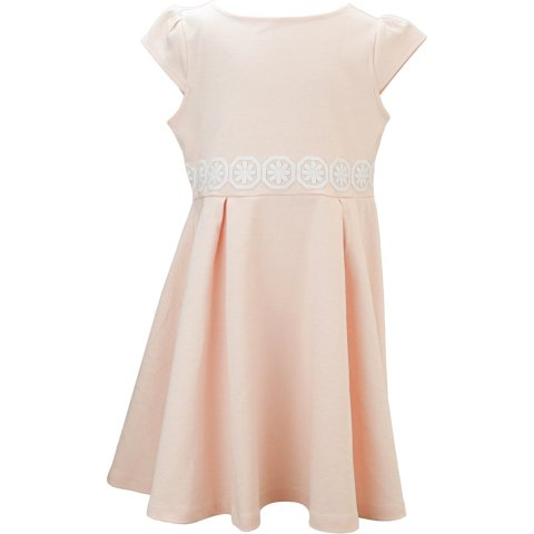 Janie And Jack Girl's Flower Applique Ponte Dress Special Occasion