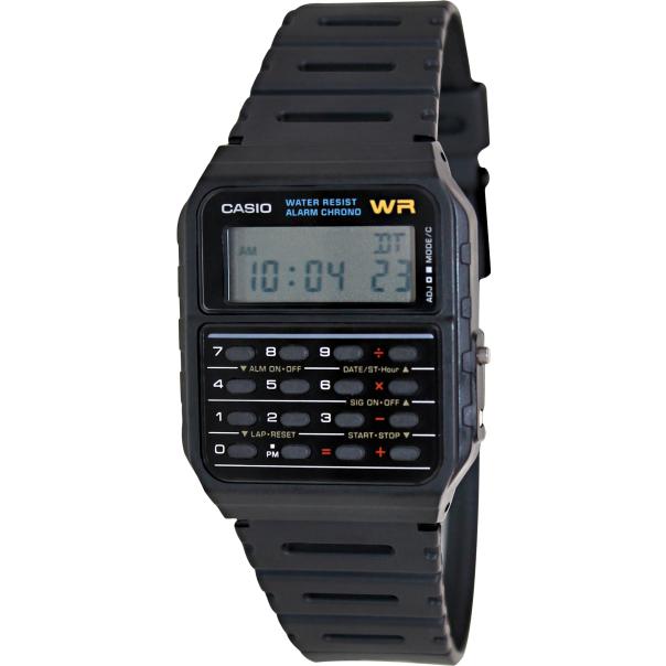 Casio Men's Core CA53W-1 Black Plastic Quartz Watch