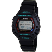 Casio Men's DW290-1V Black Resin Quartz Watch