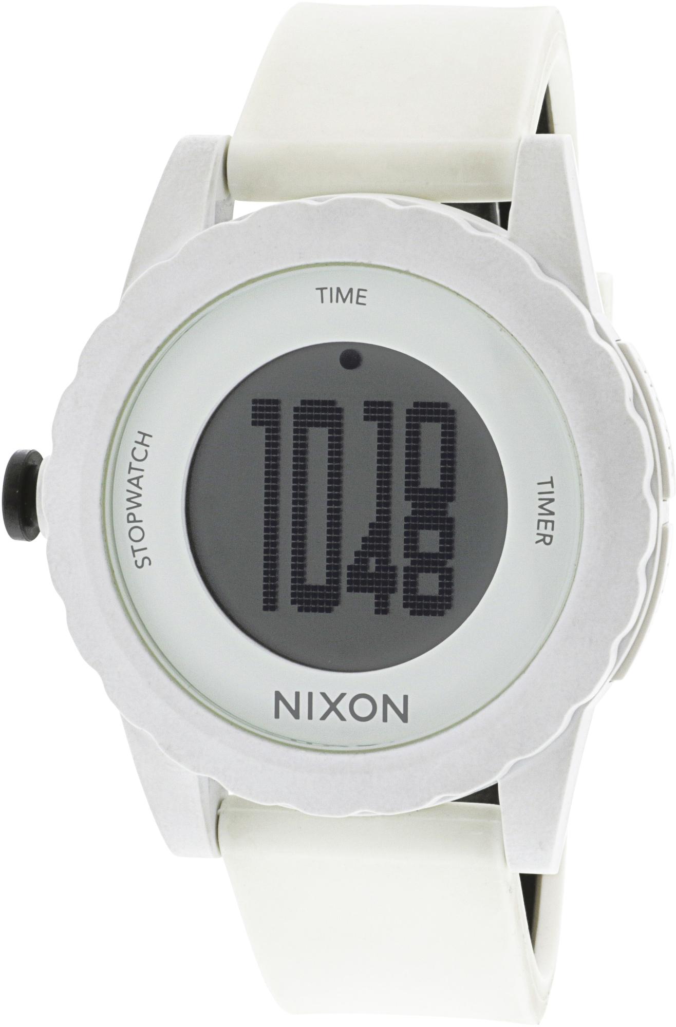Nixon_Mens_Genie_A326100_White_Polyurethane_Quartz_Sport_Watch