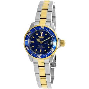 Invicta Women's Pro Diver GQ 8942 Blue Steel Two-tone Quartz Watch