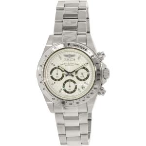 Invicta Men's Speedway Chronograph S 9211 Silver Stainless-Steel Quartz Watch