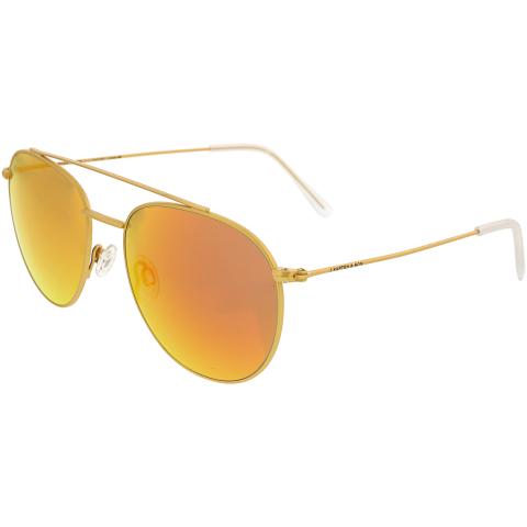 Kapten And Son Women's Mirrored Venice KS02-L-GOM-OM-V1 Gold Aviator Sunglasses