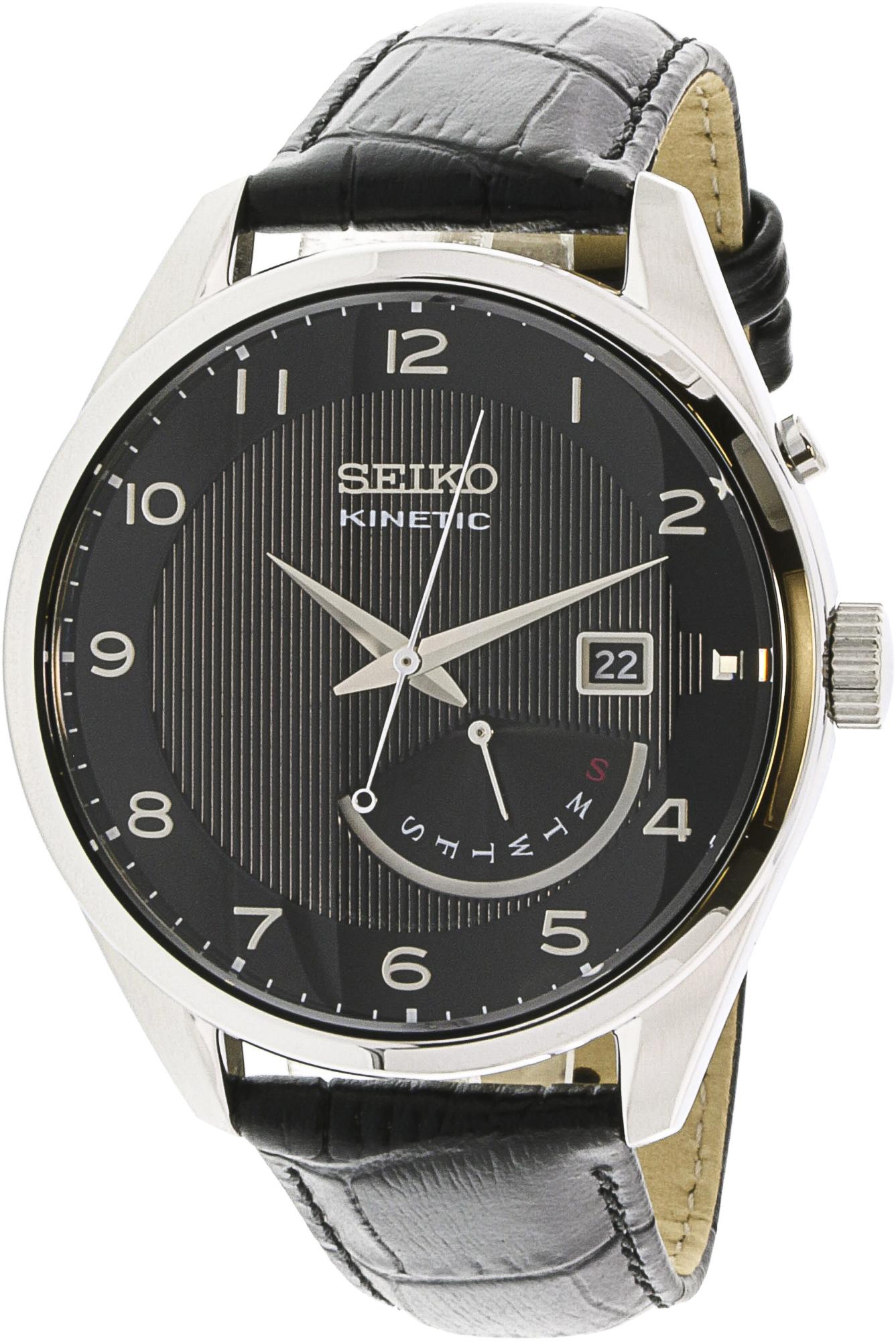 Seiko_Men's_Kinetic_SRN051_Black_Leather_Quartz_Fashion_Watch