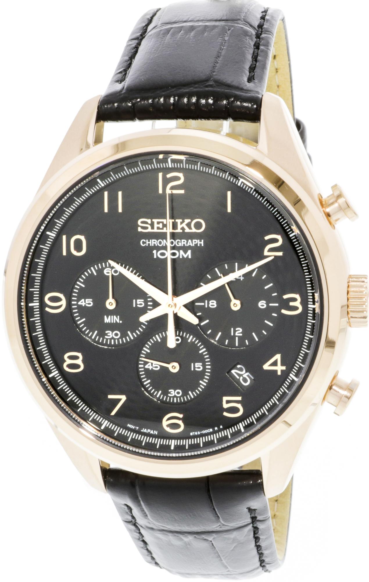Seiko_Men's_SSB296_Rose-Gold_Leather_Quartz_Fashion_Watch